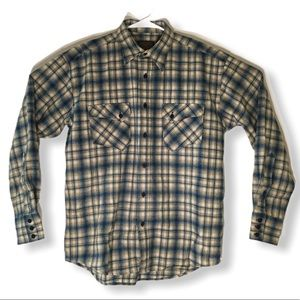 Pendleton L/S Fitted Button Front Trail Shirt Sz M